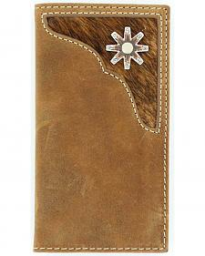 Nocona Kids' Distressed Hair-On Hide Inlay Rodeo Wallet