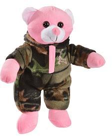 Trail Crest Plush Camo Pink Teddy Bear