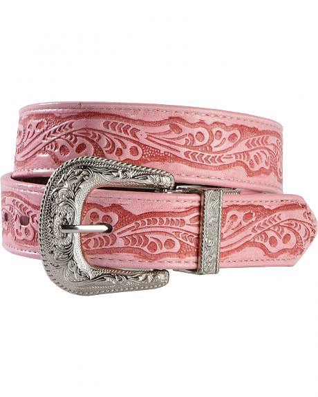 Exclusive Gibson Trading Co. Girls' Embossed Black & Brown Reversible Belt