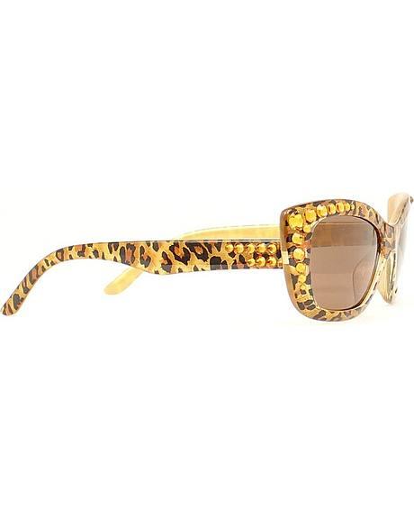 Blazin Roxx Rhinestone Embellished Leopard Print Sunglasses
