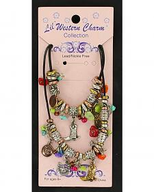 Lil' Western Charm Chunky Beaded Necklace & Bracelet Set