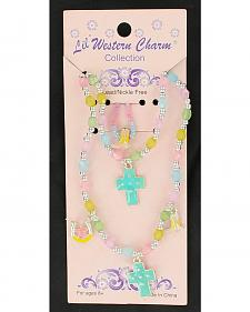 Lil' Western Charm  Pastel Necklace, Bracelet & Ring Set