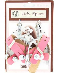 Little Outlaw Girls' Pink Spurs