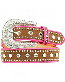 Nocona Kids' Piped & Studded Leather Belt