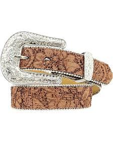 Nocona Floral Lace Belt