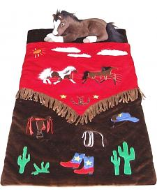 Kids' Cowboy Sleeping Bag
