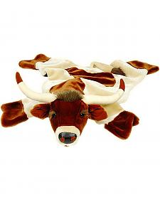 Large Longhorn Plush Rug