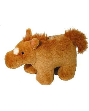 Chestnut Plush Horse Bank