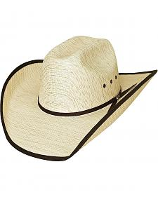 Bullhide Kids' Woven Straw Banded Brim Cowboy Hat