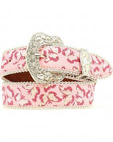 Blazin Roxx Girls' Butterfly Embroidered Belt
