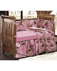 HiEnd Accents 4-Piece Pink Camo Crib Set