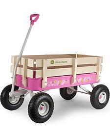 John Deere Pink Steel Stake Wagon