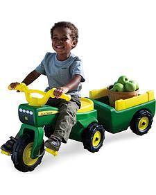 John Deere Trike & Wagon Set
