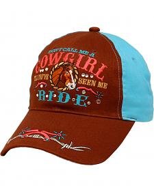 "M & F Western Youth ""Don't Call Me Cowgirl"" Cap"