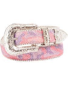Blazin Roxx Pink Glitter Camo Belt