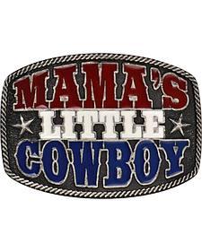 "Montana Silversmiths ""Mama's Little Cowboy"" Kid's Attitude Belt Buckle"