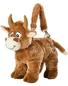 Cowgirl Hardware Bull Plush Purse