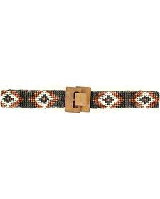 Nocona Girls' Stretch Beaded Diamond Belt