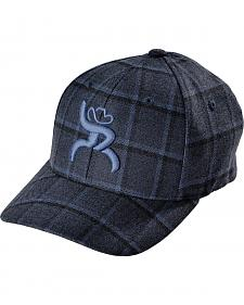 Hooey Boys' Navy and Black Plaid Roughy Cap