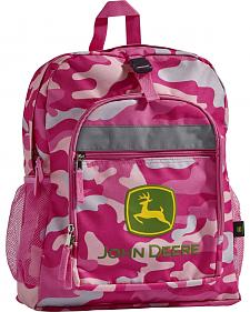 John Deere Girls' Pink Camo Trademark Backpack
