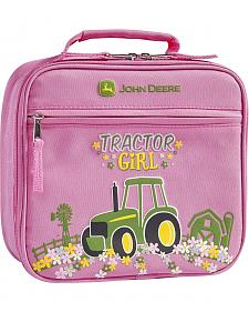 John Deere Girls' Pink Tractor Girl Lunchbox
