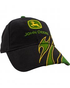 John Deere Youth Black Logo Flame Cap