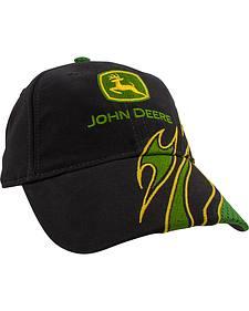 John Deere Youth Black Logo Flame Cap