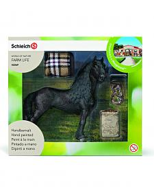 Schleich World of Nature Farm Life Friesian Horse Care Set