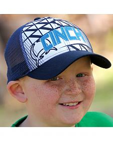 Cinch Boy's Navy Blue Logo Sublimation Graphic Cap