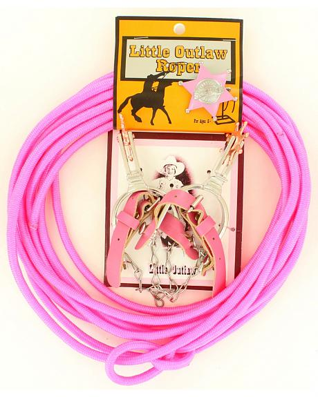 Little Outlaw Rope, Badge & Spur Set