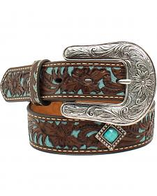 Ariat Girls Turq Tooled Concho Belt