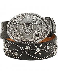 Ariat Girls Swirl Studded Croc Print Belt