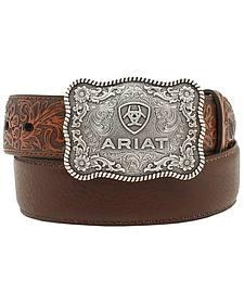 Ariat Boys' Distressed Hand Tooled Belt