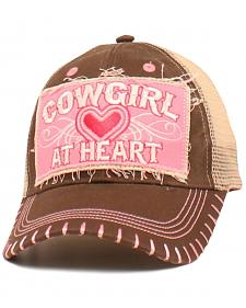 "Blazin Roxx Girls' ""Cowgirl at Heart"" Cap"