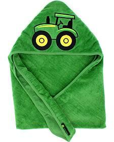 John Deere Infant Boys' Green Tractor Hooded Towel