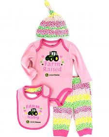 John Deere Infant Girls' Pink 4-Piece Layette Set