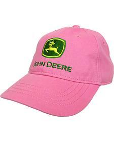 John Deere Toddler Girls' Pink Trademark Baseball Cap