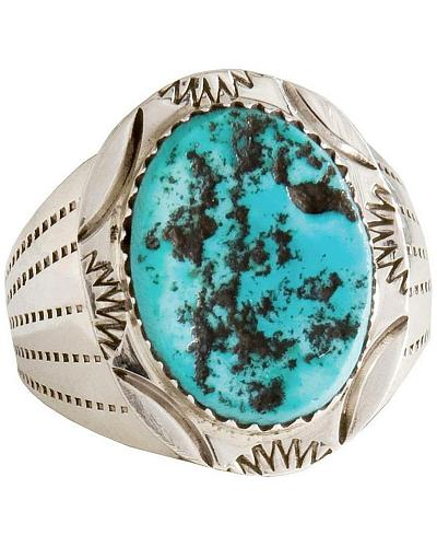 Turquoise Stone Ring Western & Country 283160
