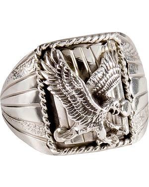 Handmade Flying Eagle Ring