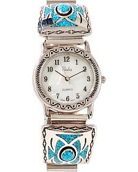 Turquoise Inlay Watch at Sheplers