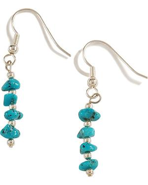 Turquoise Nugget Dangle Earrings