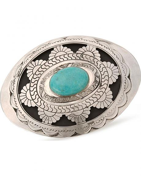 Scalloped Turquoise Stone Buckle