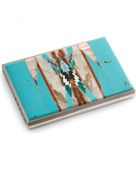 M&S Turquoise Southwest Turquoise Business Card Holder