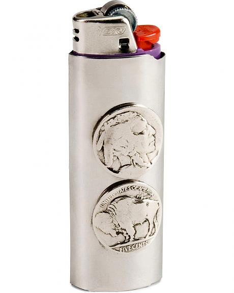 Native American Head Nickel Lighter Case