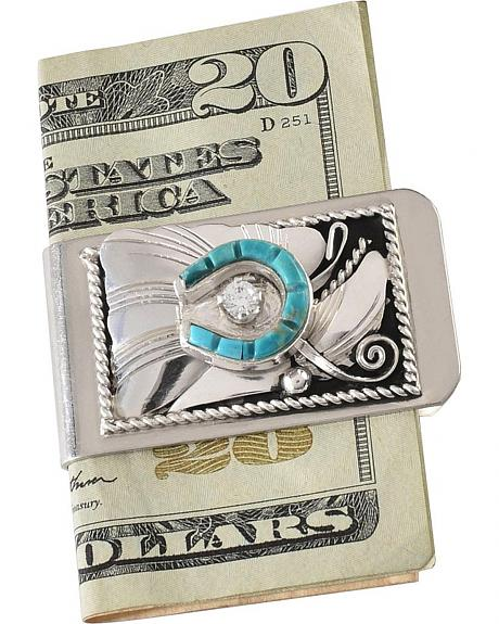 Turquoise Horseshoe Money Clip