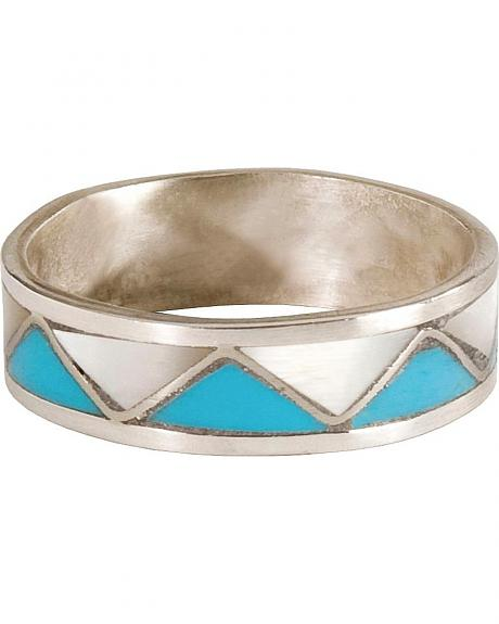 Handmade Turquoise & Mother of Pearl Ring