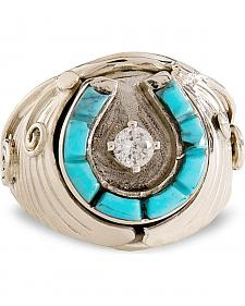 Handmade Turquoise Horseshoe Sterling Silver Ring