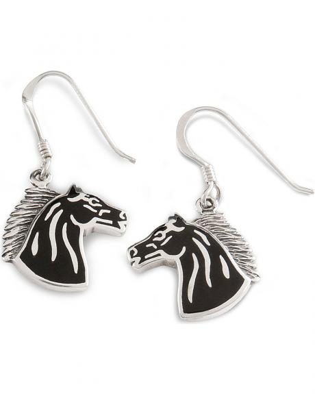 Silver Horse Earrings