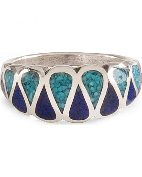Turquoise & Lapis Inlay Ring