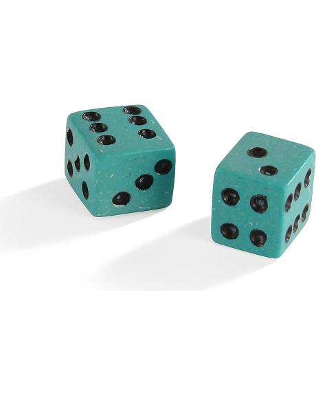 Navajo Artist Hand Carved Genuine Turquoise Dice